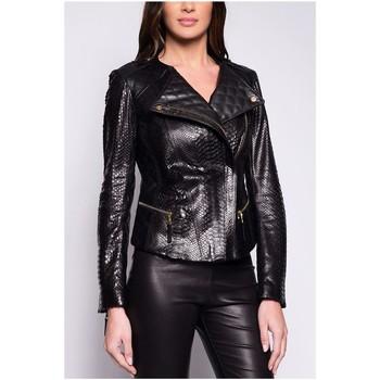 Vêtements Femme Vestes en cuir / synthétiques Giorgio Frida PYTHON Noir Noir