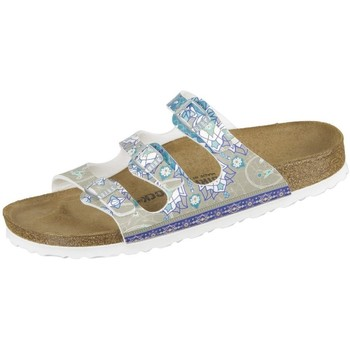 Chaussures Femme Mules Birkenstock Florida Ancient Mosaic Taupe Birkoflor DD Gris