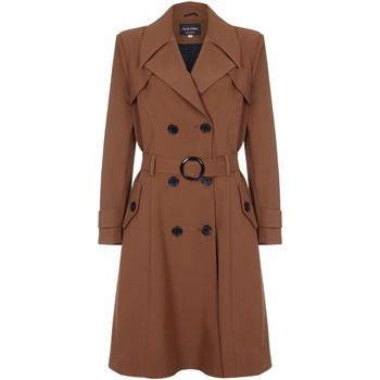 Vêtements Femme Trenchs De La Creme - Trench-coat a ceinture de printemps pour femme Brown