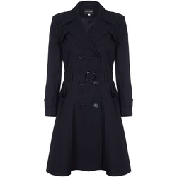 Vêtements Femme Manteaux De La Creme Trench Ceinture À Ressort Black