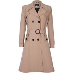 Vêtements Femme Manteaux De La Creme - Trench-coat a ceinture de printemps pour femme BEIGE