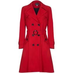 Vêtements Femme Trenchs De La Creme Trench Ceinture À Ressort Red