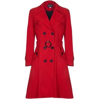 Vêtements Femme Trenchs De La Creme - Trench Ceinturé Rouge Femme Printemps Red
