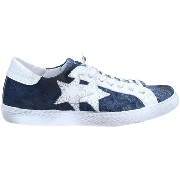 Chaussures 2 stars 2s1835 basket homme white / blue