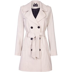 Vêtements Femme Manteaux De La Creme Cravate de printemps ceinturé trench BEIGE