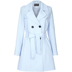 Vêtements Femme Manteaux De La Creme Cravate de printemps ceinturé trench Blue