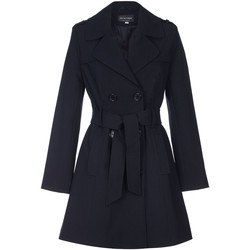 Vêtements Femme Manteaux De La Creme Cravate de printemps ceinturé trench Black