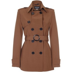 Vêtements Femme Manteaux De La Creme Cravate de printemps ceinturé trench court Brown
