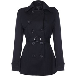 Vêtements Femme Manteaux De La Creme Cravate de printemps ceinturé trench court Black