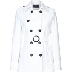 Vêtements Femme Manteaux De La Creme Cravate de printemps ceinturé trench court White