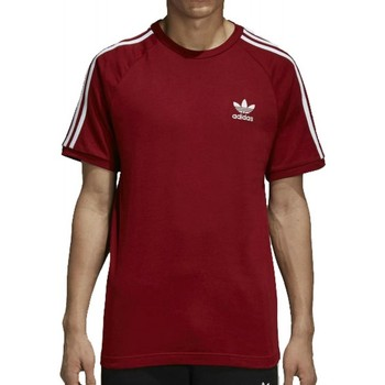 Vêtements Homme T-shirts manches courtes adidas Originals 3-Stripes Homme T-Shirt Rouge rouge