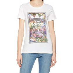 Vêtements Femme T-shirts manches courtes adidas Originals Tongue L Tee Femme T-Shirt Blanc blanc