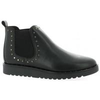 Chaussures Femme Boots So Send Boots cuir Noir