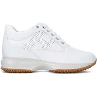 Chaussures Femme Baskets montantes Hogan Basket  Interactive en peau blanche Blanc