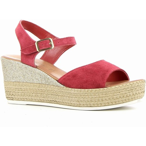 Coco & Abricot coco&abricot sandale rouge rouge - Chaussures Sandale Femme