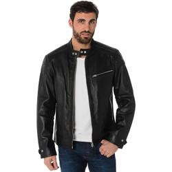Vêtements Homme Vestes en cuir / synthétiques Schott LCBREAK BLACK Noir
