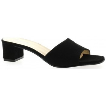 Chaussures Femme Mules Pao Mules cuir velours Noir