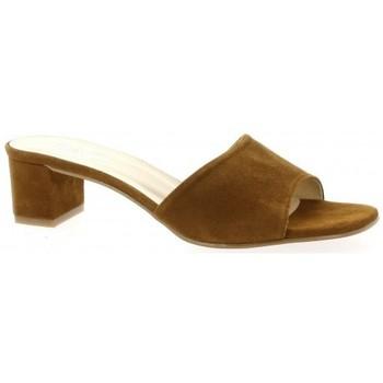 Chaussures Femme Sandales et Nu-pieds Pao Mules cuir velours Cognac