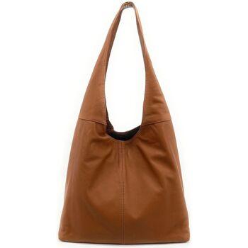 Sacs Femme Sacs porté épaule Oh My Bag Sac à main bandoulière femme en cuir souple cognac COGNAC