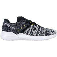 Chaussures Femme Slips on Reebok Sport Cardio Edge Low Blanc-Gris-Noir