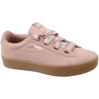 Chaussures Femme Baskets basses Puma Vikky Platform Ribbon Bold rose
