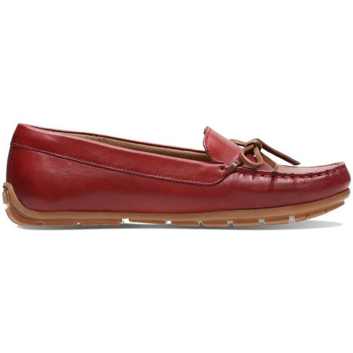 Clarks Dameo Swing Rouge - Chaussures Mocassins Femme