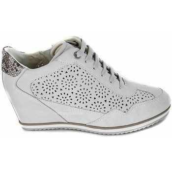Chaussures Femme Baskets montantes Geox Illusion Off Blanc