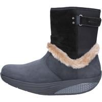 Chaussures Femme Bottines Mbt chaussures femme  bottines noir nabuk fourrure AB217 noir