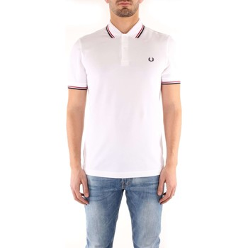 Vêtements Homme T-shirts manches courtes Fred Perry M3600 T-shirt Homme White / Bright Red / Navy CORE White / Bright Red / Navy CORE