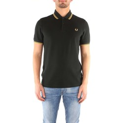 Vêtements Homme T-shirts manches courtes Fred Perry M3600 T-shirt Homme British Racing Green / 1964 Yellow British Racing Green / 1964 Yellow