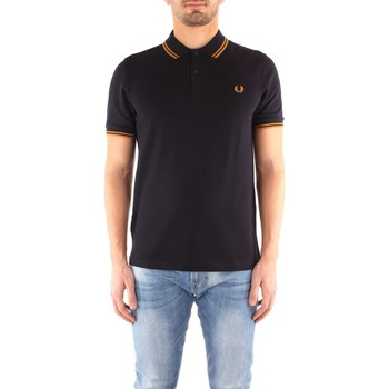 Vêtements Homme Polos manches courtes Fred Perry M3600 T-shirt Homme Navy / Burnt Amber Navy / Burnt Amber
