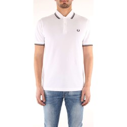 Vêtements Homme T-shirts manches courtes Fred Perry M3600 T-shirt Homme White White
