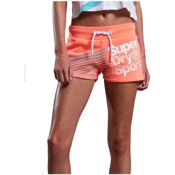 Vêtements Femme Shorts / Bermudas Superdry Short  Sport Diagonal Hot Fluro Coral Corail