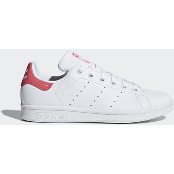 Chaussures Fille Baskets basses adidas Originals Chaussure Stan Smith Blanc / Blanc