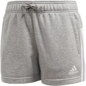 Vêtements Fille Shorts / Bermudas adidas Performance Short Essentials 3-Stripes Mid Gris / Blanc / Blanc