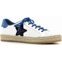 Chaussures Femme Espadrilles Coco & Abricot coco&abricot sneakers blanc-bleu blanc