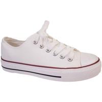 Chaussures Baskets basses Primtex Basket tennis  en toile semelle caoutchouc blanc Blanc