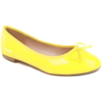 Chaussures Femme Ballerines / babies Primtex Ballerines vernis jaune classique avec semelle interieure confor Jaune