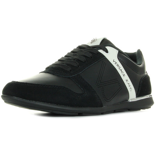 Versace Jeans Linea Fondo Tommy Dis 7 70010 Coated VJ Holed Suede noir - Chaussures Baskets basses Homme