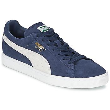 Chaussures Baskets basses Puma SUEDE CLASSIC + Bleu / Blanc