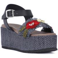 Chaussures Femme Sandales et Nu-pieds Café Noir CAFE NOIR SANDALO FASCIA Nero