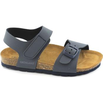Chaussures Enfant Mules Grunland Grünland LÉGER SB0234 32/36 bébé sandales bleu Birk boucle Tear Blu