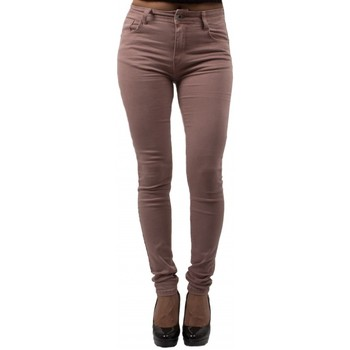 Vêtements Femme Jeans skinny Primtex Jean slim rose  taille haute ultra stretch - Jeaniful Rose