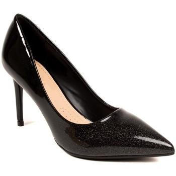 Chaussures Femme Escarpins Primtex Escarpins vernis dégradé à paillette - Chaussure de soirée  à ta Noir