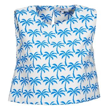 Vêtements Femme Débardeurs / T-shirts sans manche Suncoo LANA Blanc / Bleu