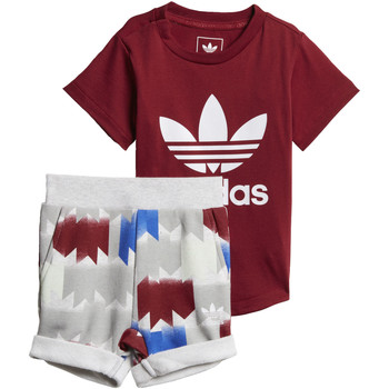 Vêtements Garçon Ensembles de survêtement adidas Originals Ensemble GRPHC Shorts and Tee Rouge / Blanc / Multicolore