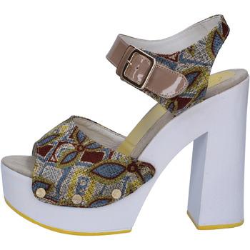 Chaussures Femme Sandales et Nu-pieds Suky Brand sandales beige textile cuir verni AB308 beige
