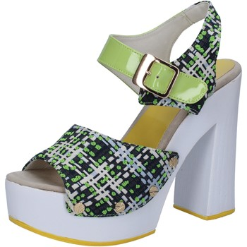 Chaussures Femme Sandales et Nu-pieds Suky Brand sandales vert textile cuir verni AB309 vert