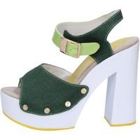 Chaussures Femme Sandales et Nu-pieds Suky Brand sandales vert textile cuir verni AB314 vert