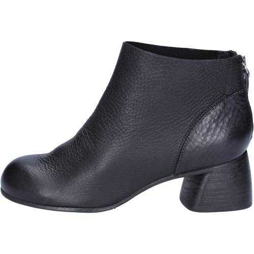 Chaussures Femme Bottines Moma bottines noir cuir AB414 noir